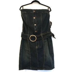 [BABYPHAT] NWT Denim button down body con dress 18